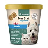 Tear Stain Remover for Dogs and Cats with Lutein, Eye Stain Supplement, Keep Fur Clean with Our Tasty Tear Stain Supplement Soft Chew From NaturVet