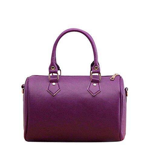 en main Cabas Blanc Red bandoulière style Brezeh Taille à Hobo unique à violet cuir Sac q1EnBfwXA