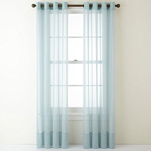 Liz Claiborne Lisette Grommet-Top Sheer Curtain Panel, 50