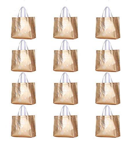 Nugoo - Bolsa de compras reutilizable brillante con asa ...