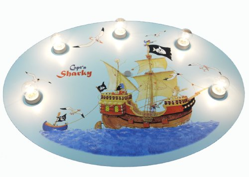 Niermann Standby Ceiling Lamp, Capt'n Sharky by Niermann Standby