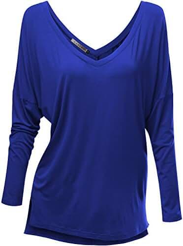 HASLRA Women's V-neck Sexy Top_95% Modal_Various Stretch Top