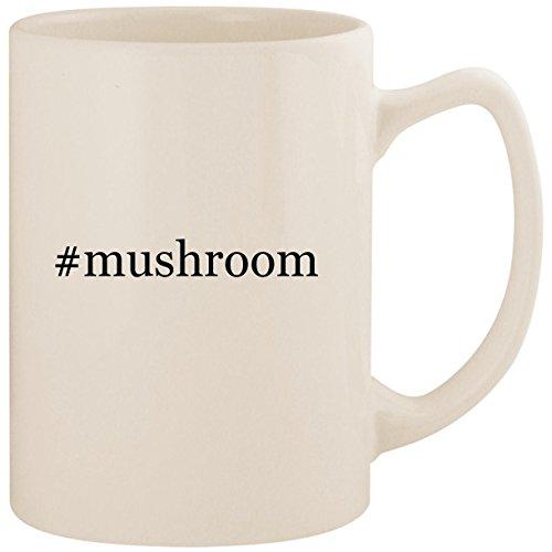 Portabella Mushroom Pasta (#mushroom - White Hashtag 14oz Ceramic Statesman Coffee Mug Cup)