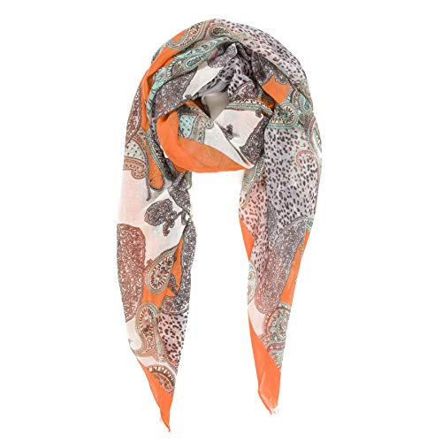 Scarf for Women Lightweight Paisley Fashion for Spring Winter Scarves Shawl Wrap (SS69)]()