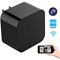 Hidden Spy Camera, 1080P Home Security Mini Camera USB Charger with WiFi Remote View, Motion Detection (Upgraded Version)