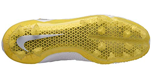 Nike Men's Force Savage Elite TD Football Cleat (12, White/Yellow) (Nike Football Cleats All White)