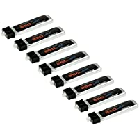PowerHobby 1s 250mAh 45C 8-Pack Flight Time and Power Battery Upgrade - Fits All: Blade Nano QX QX FPV Tiny Whoop UMX Radian Blade Inductrix Champ Sport Cub S Nano CP S Inductrix FPV