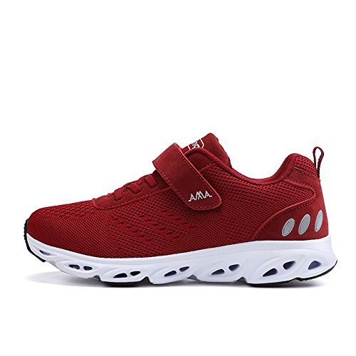 Monrinda Women's Mesh Running Trainers Lightweight Shock Absorbing Sneakers Breathable Outdoor Athletic Jogging Walking Gym Fitness Sport Shoes Red qeLfnf
