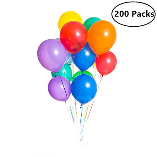200 Pieces Assorted Colored Balloons Bulk ,12 Inches Latex H