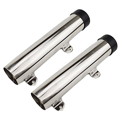 (glorious_nx 2 PCPS Boat Stainless Steel Fishing Rod Holder Side Mount for Marine Yacht Rod Pod Good)
