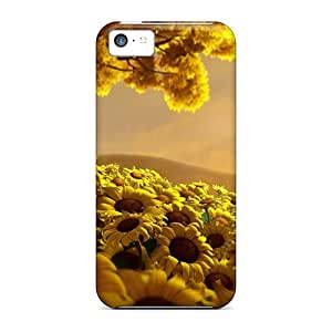 Premium PaDVXIr7277EqGQl Case With Scratch-resistant/ Sunflower Case Cover For Iphone 5c
