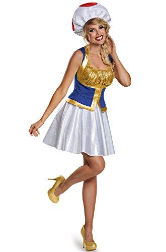 Toad Female Version Costume, Junior (7-9) -