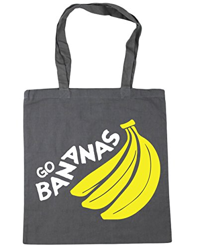 Beach Graphite Go Bag litres Bananas 10 Gym Tote Grey Shopping 42cm HippoWarehouse x38cm dOwqPgXq