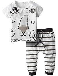 Unisex Baby 2 Pieces Graphic Short Sleeve Shirt Pants Set