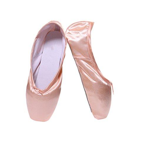 Ballo Nastro DoGeek Balletto Punta E Scarpe con da Pointe Pantofola Scarpe Classico Pastiglie TBqYnBxvwC