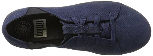 Blue Navy Sneaker embossed Women's Snake Trainers Laceup Midnight Fitflop F Sporty Yxq8I