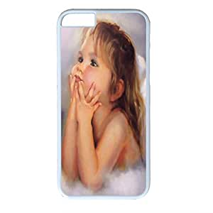 iPhone 6 Cases, iPhone 6 Cases, Little Girl, Angle, Case for iPhone 6 -- White Plastic Case