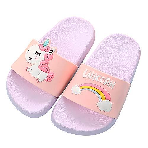 - Boys Girls Unicorn Slide Sandals, Toddler Little Kids Beach Water Shower Pool Slippers Summer Shoes (2.5 Little Kid, Purple Unicorn)