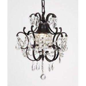 chandelier wrought iron crystal chandeliers h14 w11 swag plug in chandelier w14 - Plug In Hanging Chandelier