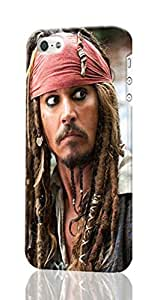Captain Jack Sparrow - The Pirates of the Caribbean - On Strange Pattern Image - Protective 3d Rough Case Cover - Hard Plastic 3D Case - For iPhone ipod touch4