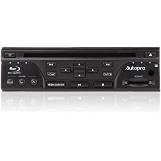 Autopro BD1208 In Dash One Din size Blu-Ray DVD Player without AM/FM radio Black
