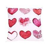 Celendi - Funda de cojín con Estampado de Corazones para el día de San Valentín, poliéster, E, 45 * 45cm