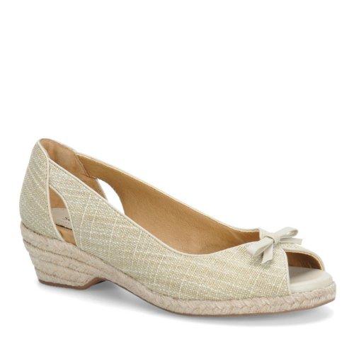 Softspots Women's Sand/Cream Aden 7 C (Softspots Slip Sandals)