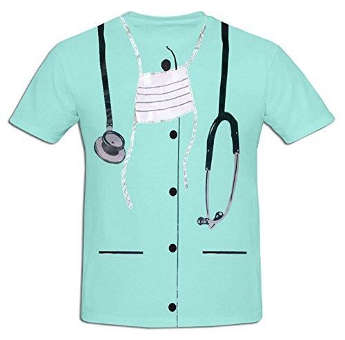 21fashion Camiseta manga corta impresa Verde hombre Camiseta cirujano para de estampada talla de de Bqr8xBwA
