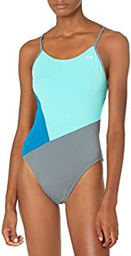 TYR Womens Solid Splices Block Cutoutfit