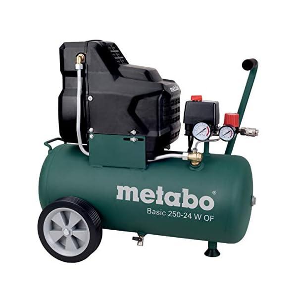 Metabo Compresor Basic 250-24 W OF 1.5kW, 8 bar, 24l, para corriente alterna monofásica