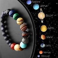 Sekiz Gezegenl Doğal Taş Bileklik Yoga Çakra Galaxy Güneş Sistem