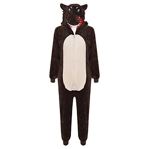 A2Z 4 Kids® Kinderen Unisex Zacht Pluizig Dier Onesies Aap Gorilla Luipaard Schedel Camouflage Alles In Een Kostuum…
