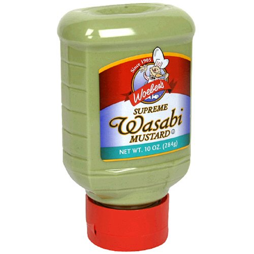 Woeber's Supreme Wasabi Mustard, 10-Ounce Squeeze Bottles (Pack of 6)