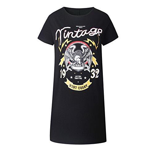 Dress Graffiti T Print Shirt RAFAGO Eagle xA04xX