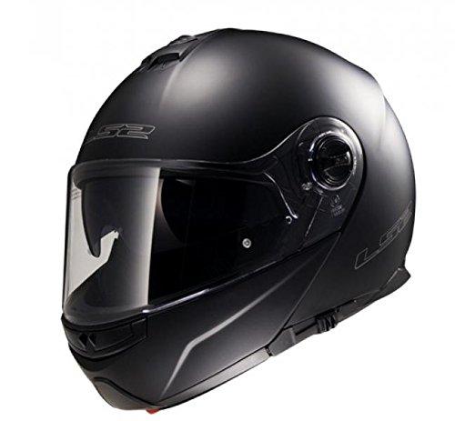 LS2 503251011//XL Casque modulable FF325/Strobe Noir mat Taille XL