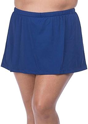 Maxine Of Hollywood Women's Plus Size Mid Rise Skirted Bikini Swimsuit Bottom