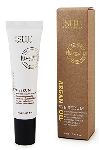 Om She Aromatherapy - Argan Oil Eye Serum .67 fl oz (20ml) - Pure - Organic - Paraben Free - Anti Oxidant - Cruelty - Antioxidant Eye Therapy