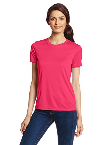 Hanes Sport Women's Cool DRI Performance Tee, Wow Pink, X-La