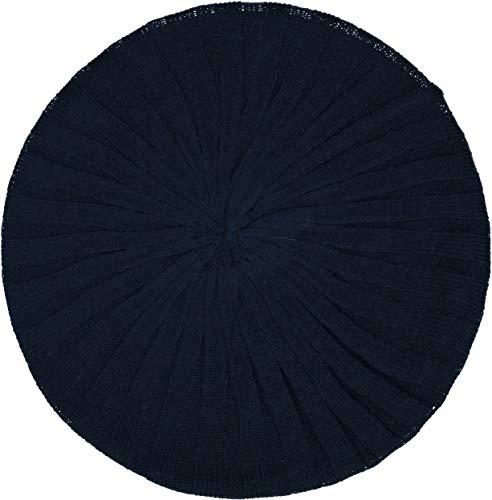 (Revaz Womens Ribbed Knit Lined Beret/Snood - SSB24 - Denim, One Size)
