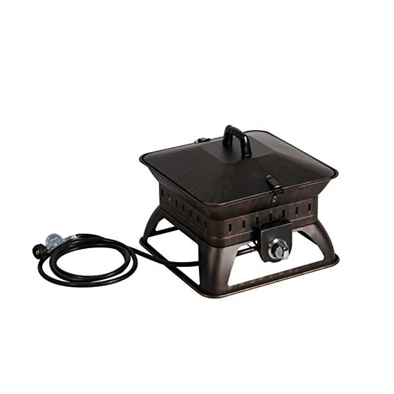 "BALI OUTDOORS Firepit Tailgate Gas Portable Fire Pit, Black - Tailgate gas portable fire pits, 18. 7"" L x 18. 7"" W x 14. 6"" Tall Lightweight and portable, the 50, 000 BTU fire bowl fire pit allows for an easy set up anywhere outdoors with no tools required. Features stainless steel burner, and Steel construction with high temperature powder coating and protective enamel finish for long lasting durability. - patio, outdoor-decor, fire-pits-outdoor-fireplaces - 4115BNHiSJL. SS570  -"