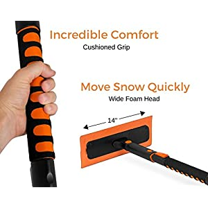 "Snow MOOver 39"" Extendable and Ice Scraper with Foam Grip 