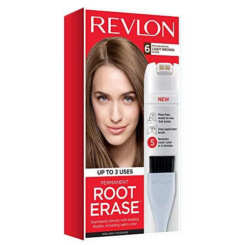 Revlon Root Erase Permanent Hair Color, Light Brown, 3.2 Fluid Ounce