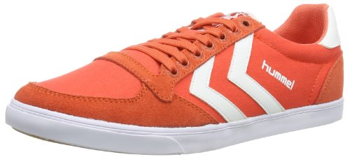 hummel HUMMEL SLIMMER STADIL LOW 63-373-3436 - Zapatillas de lona para mujer, color naranja, talla 36 Naranja (Orange (Hot Coral))