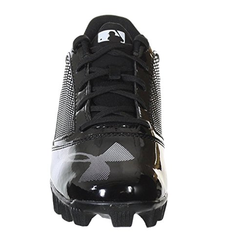 UNDER ARMOUR YARD RM LOW JR BLACK / BLACK YOUTH MOLDED BASEBALL CLEATS 11K - Image 2