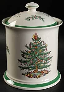 Amazon.com - Spode Christmas Tree-Green Trim Cookie Jar ...