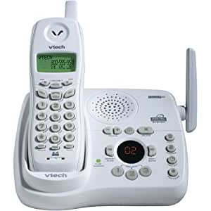 VTech t2453 2.4 GHz Analog Cordless Phone with Answering System and Caller ID (White)