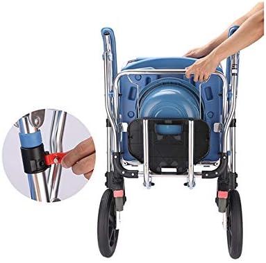 ベッドサイド箪笥、バスルーム、ベッドルーム、負荷150キロのための防水クッションと滑り止めのアームレスト付き多機能シャワーチェアや車いす