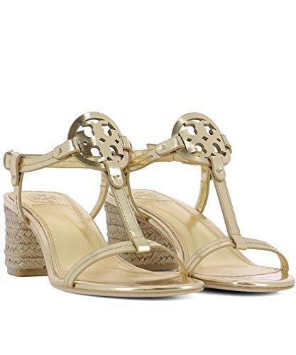 Tory Burch Ladies 47744701 Sandali In Pelle Dorata