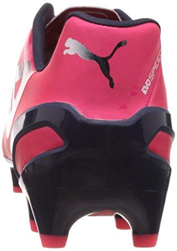 Puma evoSPEED 1.3 FG Herren Fußballschuhe rojo - Rot (bright plasma-white-peacoat 04)