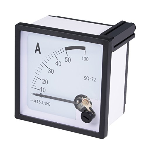 uxcell AC 0-50A Analog Panel Ammeter Gauge Ampere Current Meter SQ-72 1.5 Error Margin (Ac Ammeter Analog)